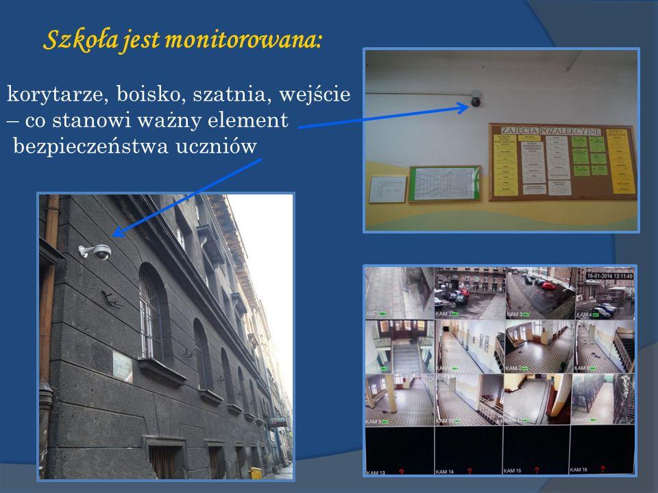 Szkoła jest monitorowana: