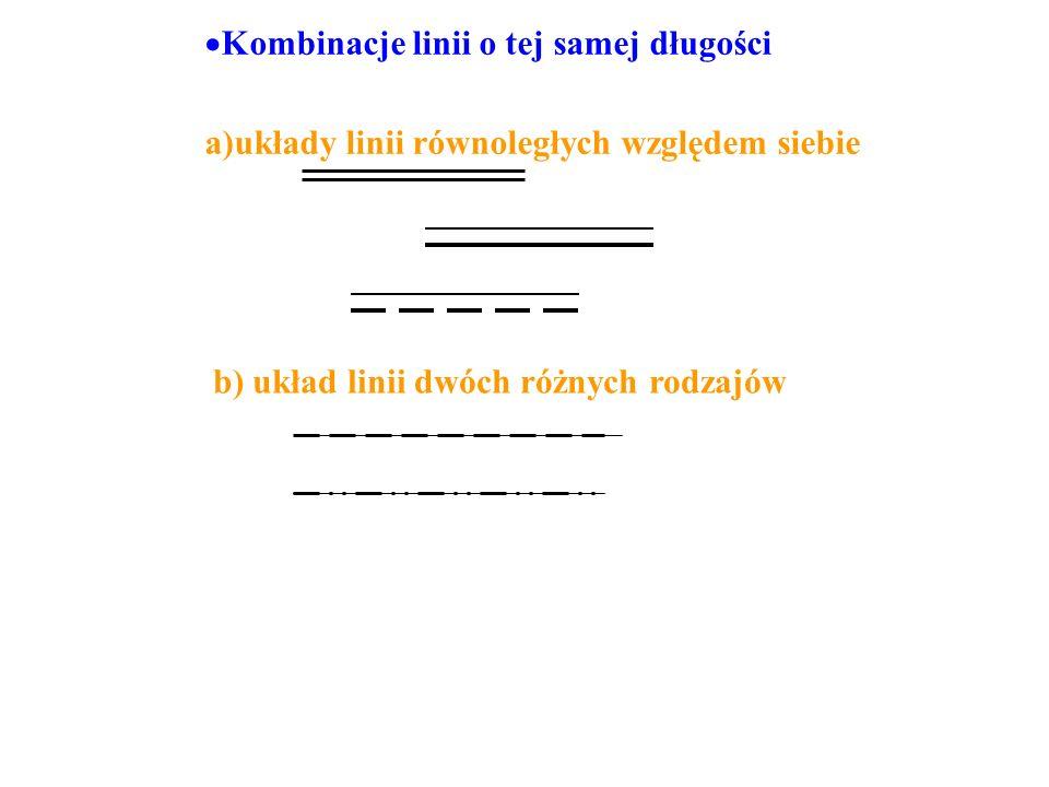 Kombinacje linii o tej samej długości