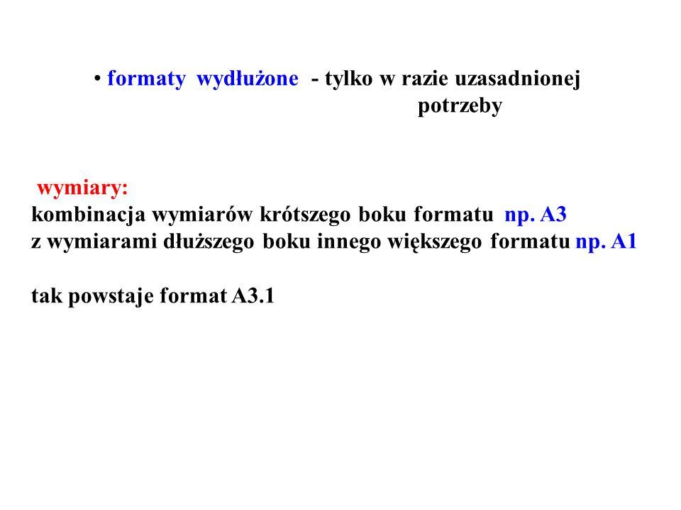 formaty wydłużone - tylko w razie uzasadnionej