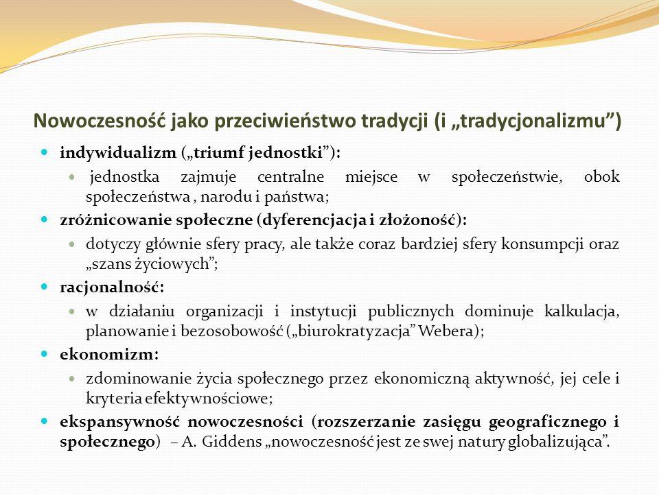 """Nowoczesność jako przeciwieństwo tradycji (i """"tradycjonalizmu )"""