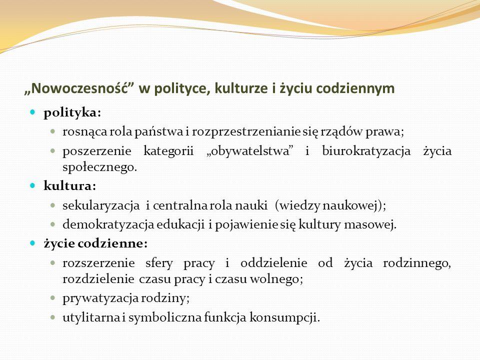 """""""Nowoczesność w polityce, kulturze i życiu codziennym"""