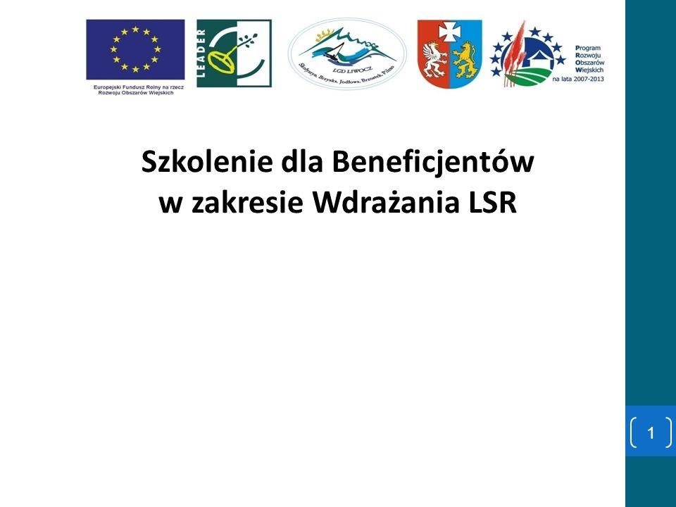 Szkolenie dla Beneficjentów w zakresie Wdrażania LSR