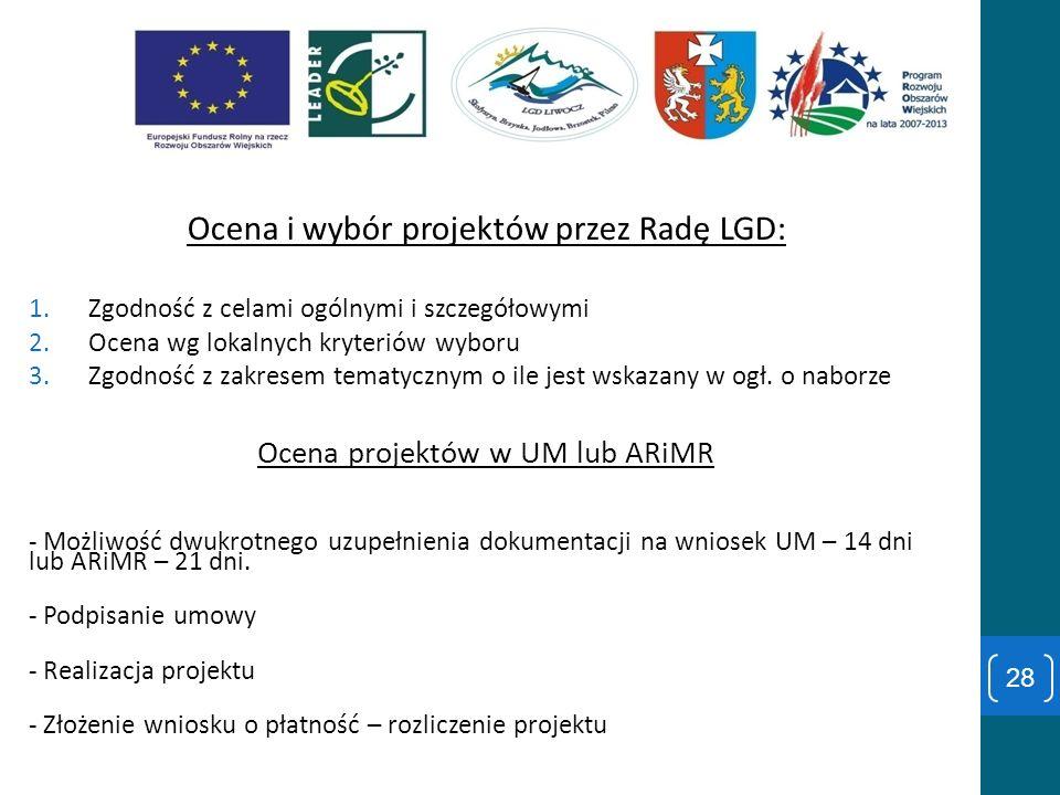 Ocena i wybór projektów przez Radę LGD: