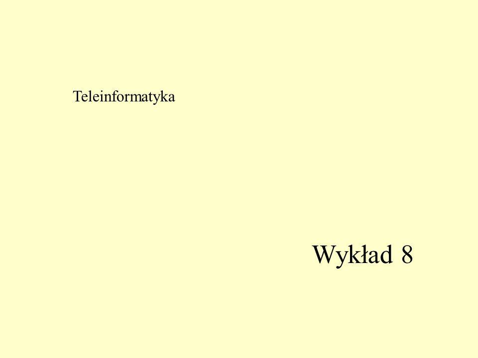 Teleinformatyka Wykład 8