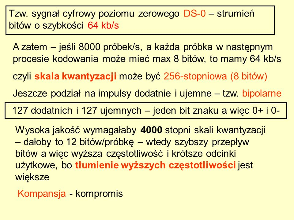 127 dodatnich i 127 ujemnych – jeden bit znaku a więc 0+ i 0-