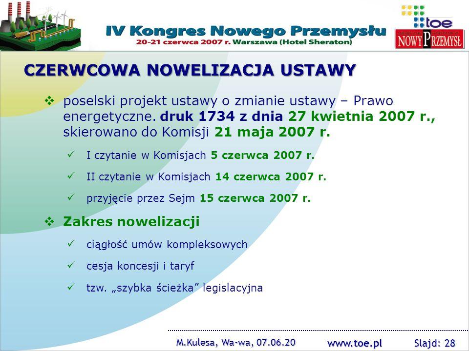 CZERWCOWA NOWELIZACJA USTAWY
