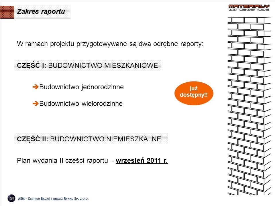 W ramach projektu przygotowywane są dwa odrębne raporty: