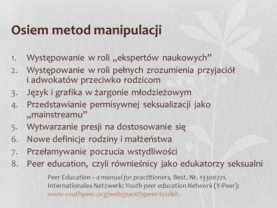 Osiem metod manipulacji