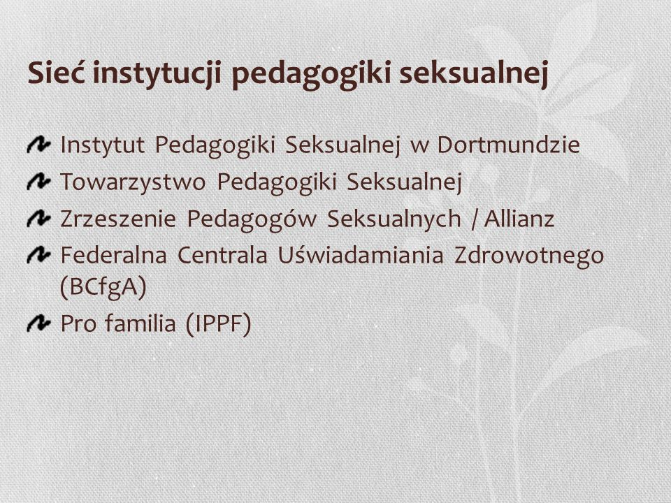 Sieć instytucji pedagogiki seksualnej