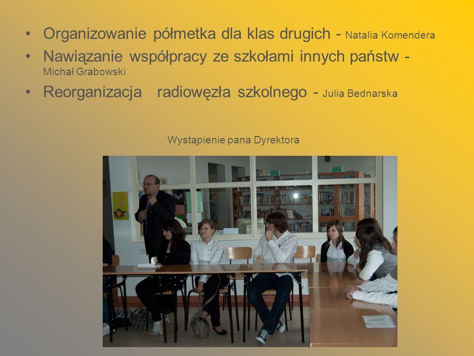 Organizowanie półmetka dla klas drugich - Natalia Komendera