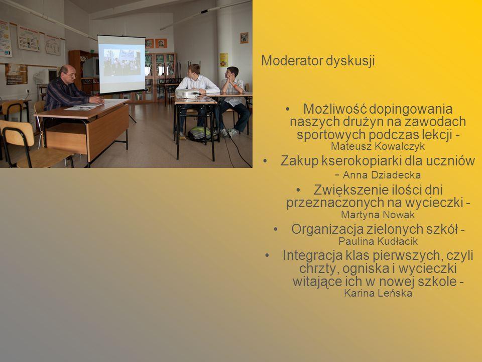 Zakup kserokopiarki dla uczniów - Anna Dziadecka