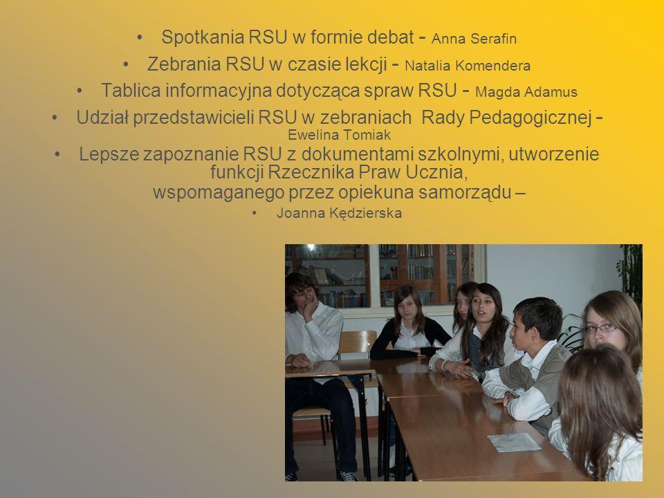 Spotkania RSU w formie debat - Anna Serafin