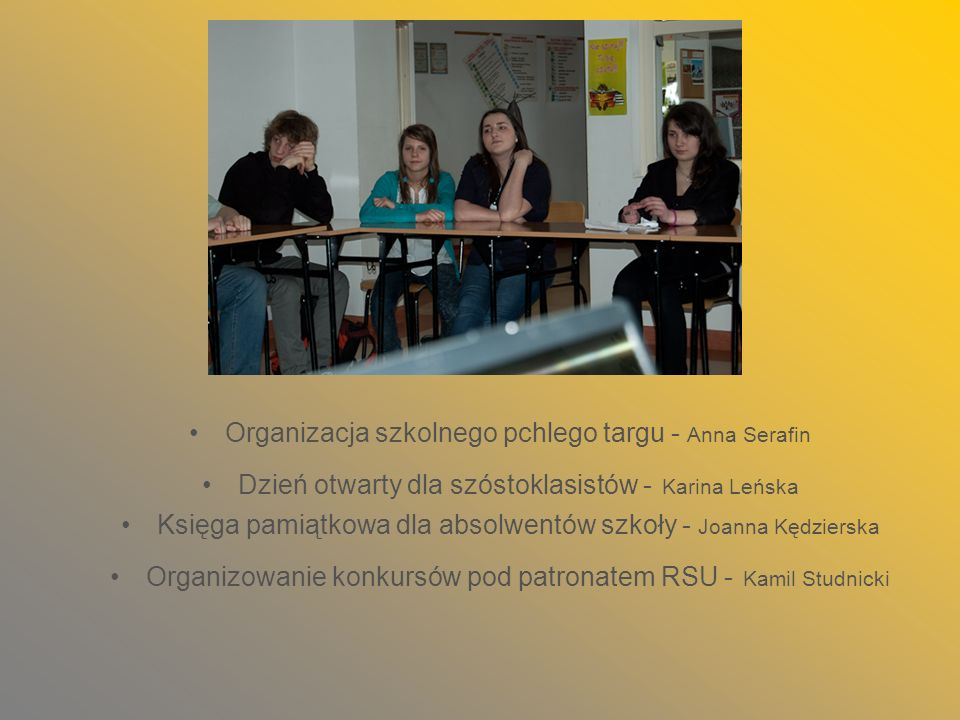 Organizacja szkolnego pchlego targu - Anna Serafin