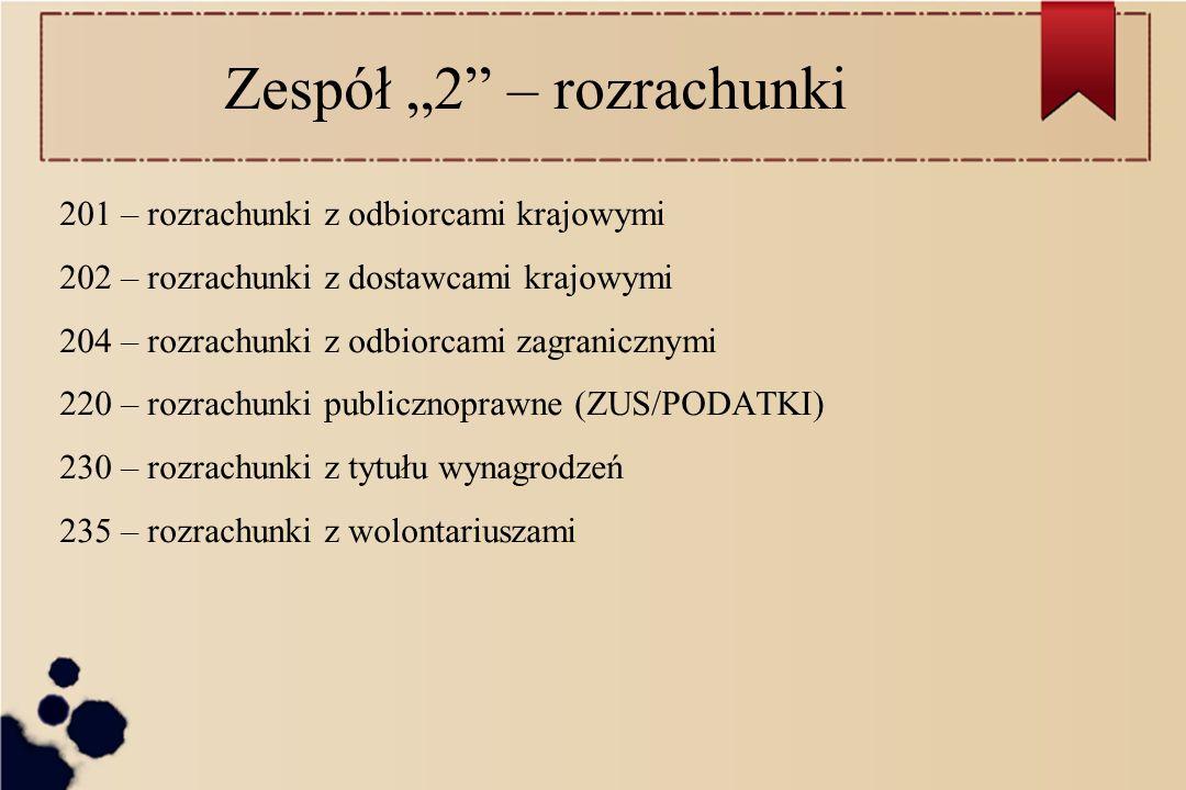 """Zespół """"2 – rozrachunki"""