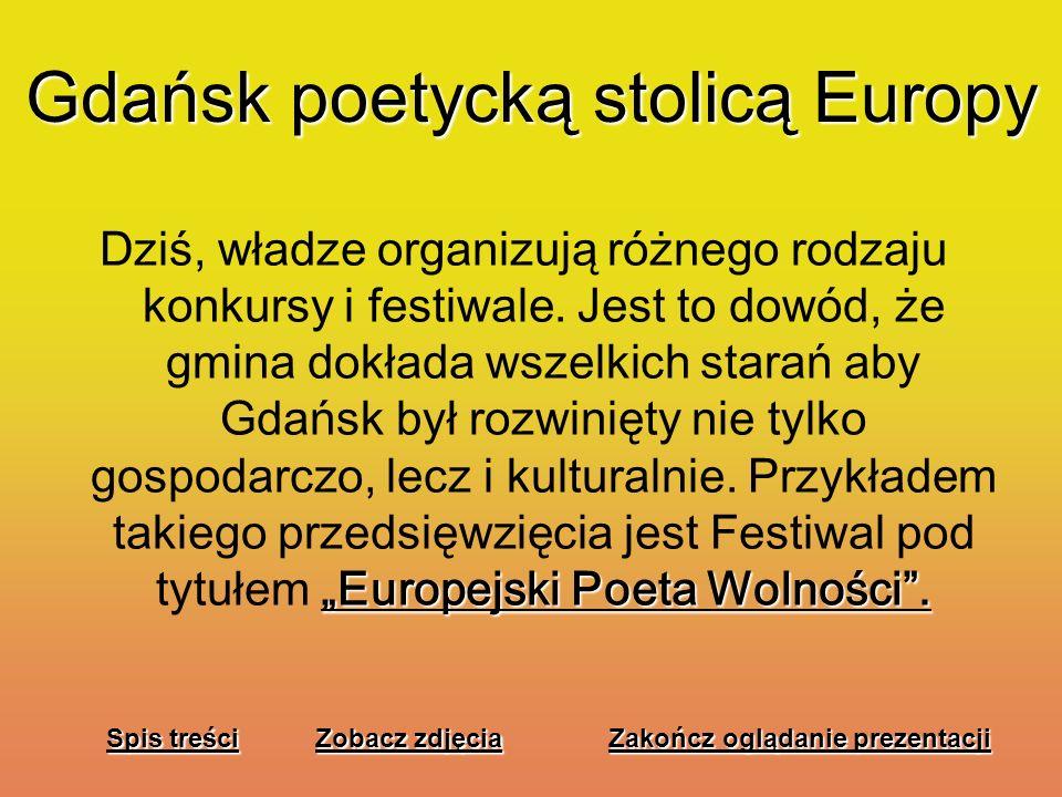 Gdańsk poetycką stolicą Europy