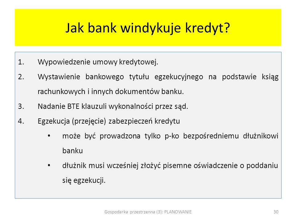 Jak bank windykuje kredyt