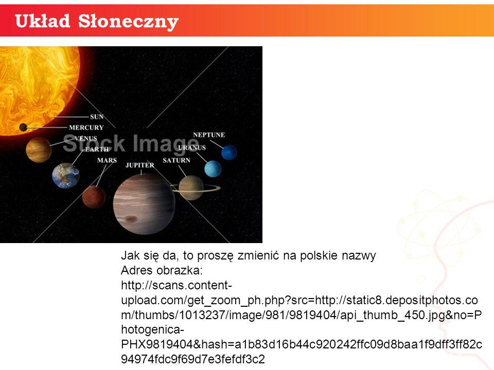 Układ Słoneczny Jak się da, to proszę zmienić na polskie nazwy