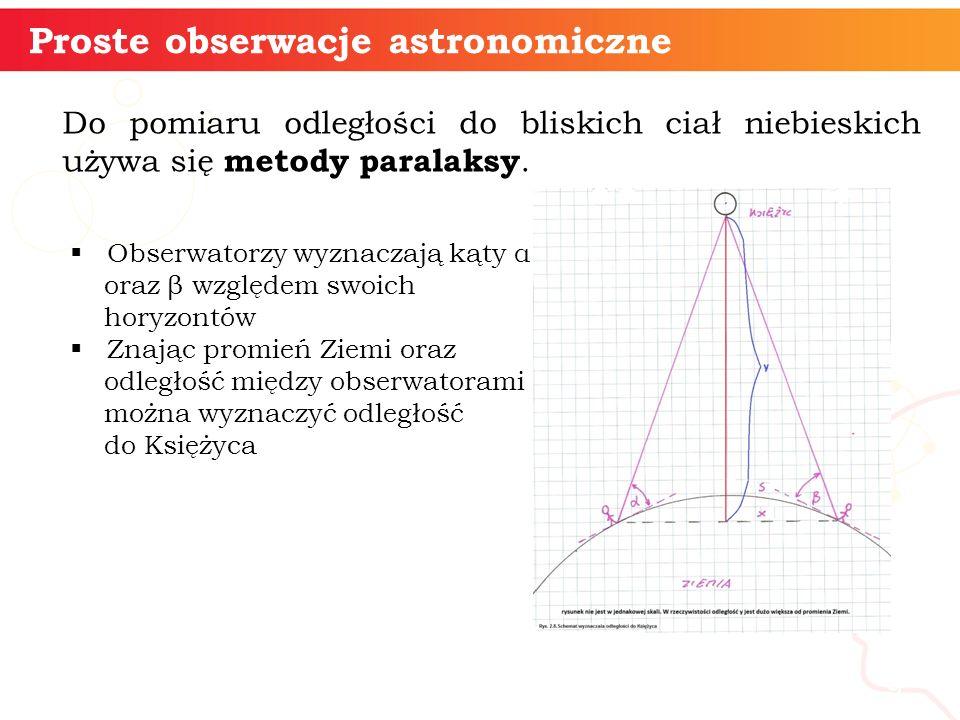 Proste obserwacje astronomiczne
