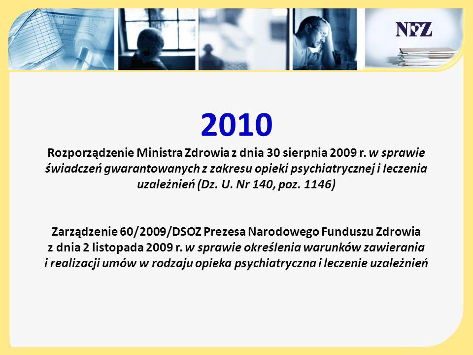 Zarządzenie 60/2009/DSOZ Prezesa Narodowego Funduszu Zdrowia