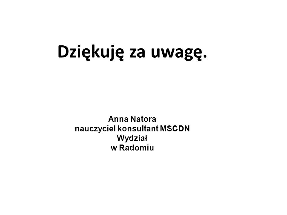 nauczyciel konsultant MSCDN