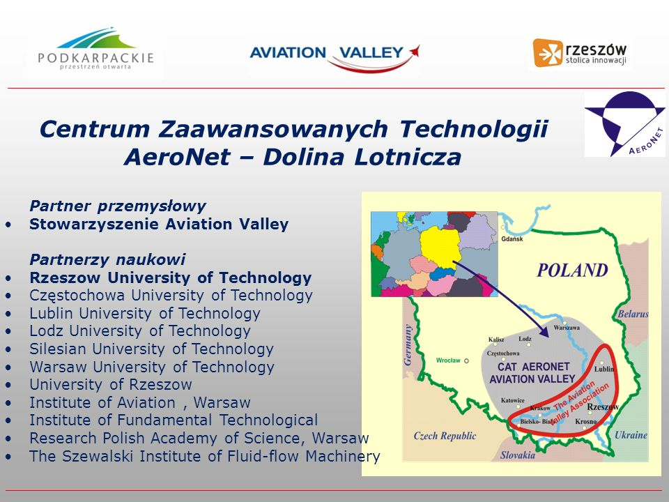 Centrum Zaawansowanych Technologii AeroNet – Dolina Lotnicza