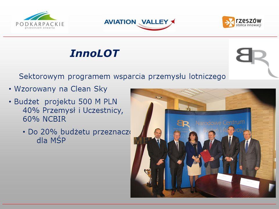 InnoLOT Sektorowym programem wsparcia przemysłu lotniczego