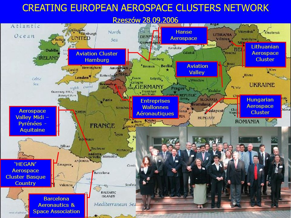 CREATING EUROPEAN AEROSPACE CLUSTERS NETWORK Rzeszów 28.09.2006