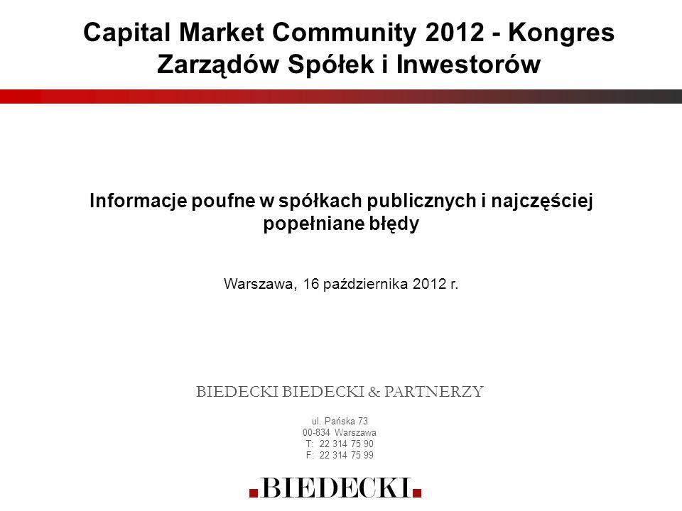 Capital Market Community 2012 - Kongres Zarządów Spółek i Inwestorów