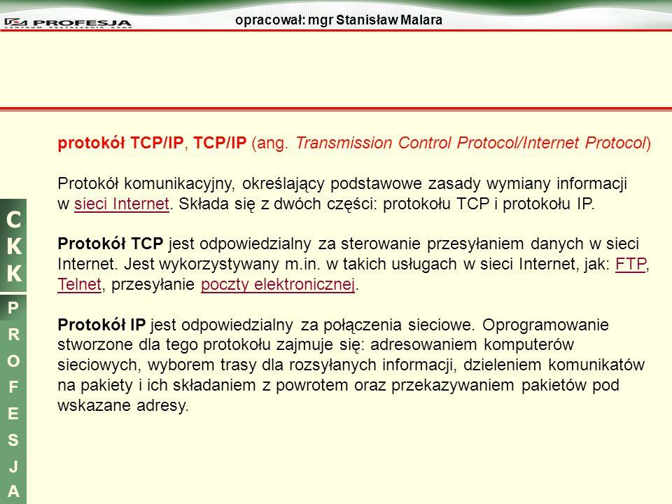 protokół TCP/IP, TCP/IP (ang