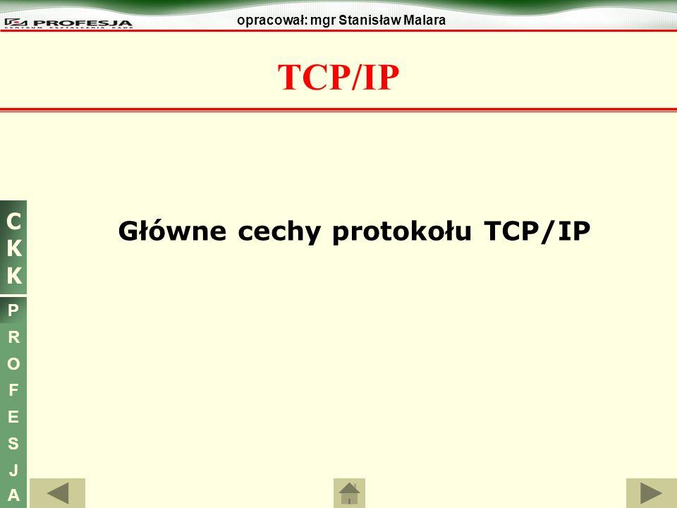 Główne cechy protokołu TCP/IP