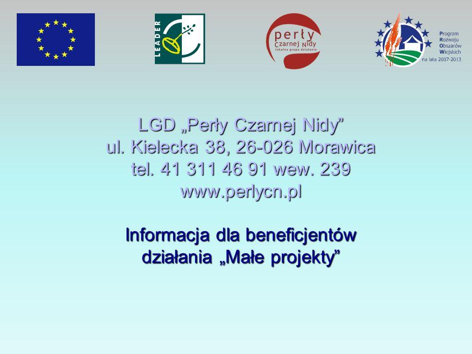 """LGD """"Perły Czarnej Nidy ul. Kielecka 38, 26-026 Morawica tel"""