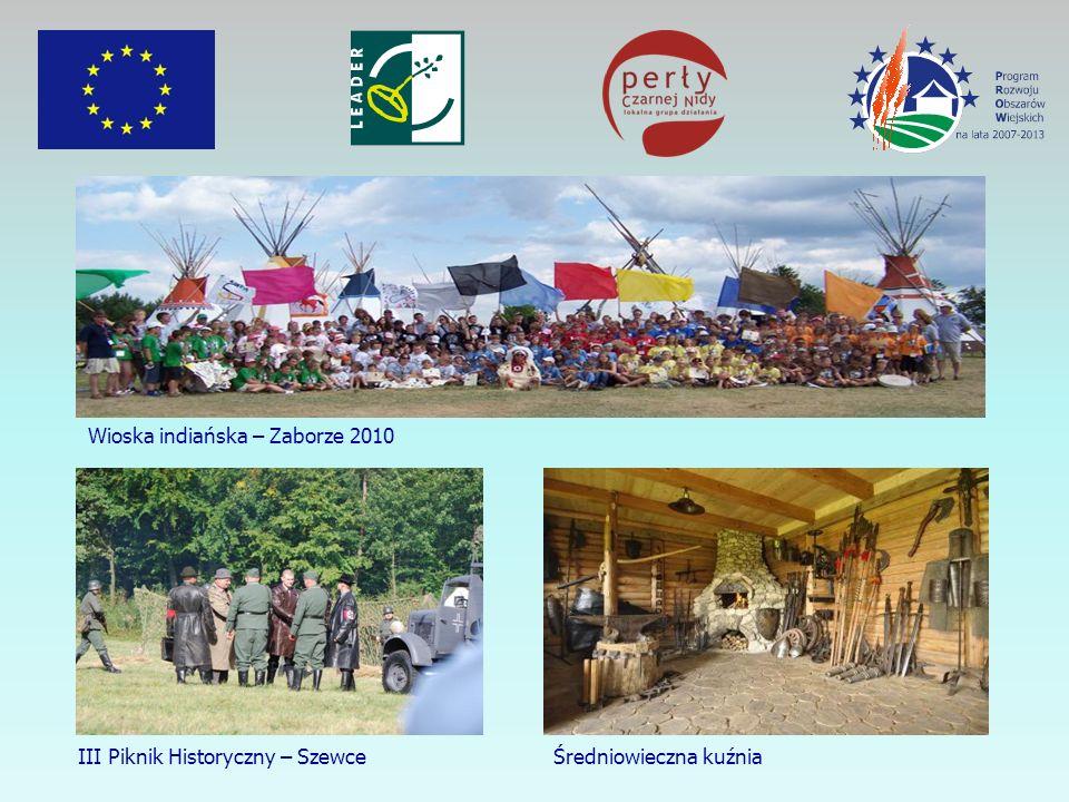 Wioska indiańska – Zaborze 2010 III Piknik Historyczny – Szewce Średniowieczna kuźnia