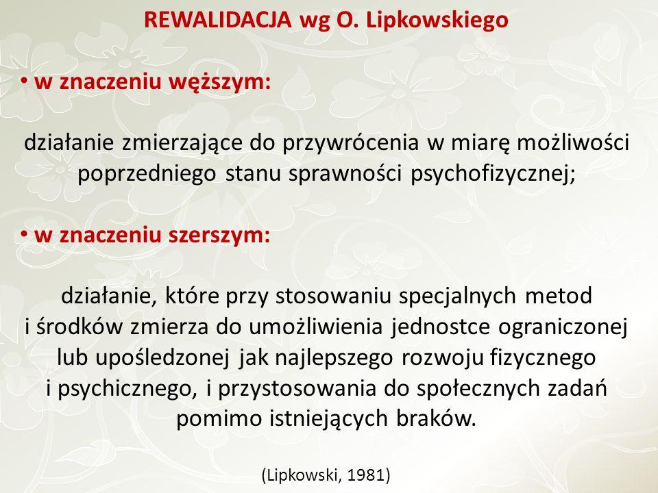 REWALIDACJA wg O. Lipkowskiego