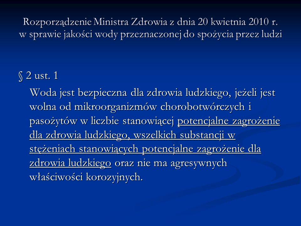 Rozporządzenie Ministra Zdrowia z dnia 20 kwietnia 2010 r