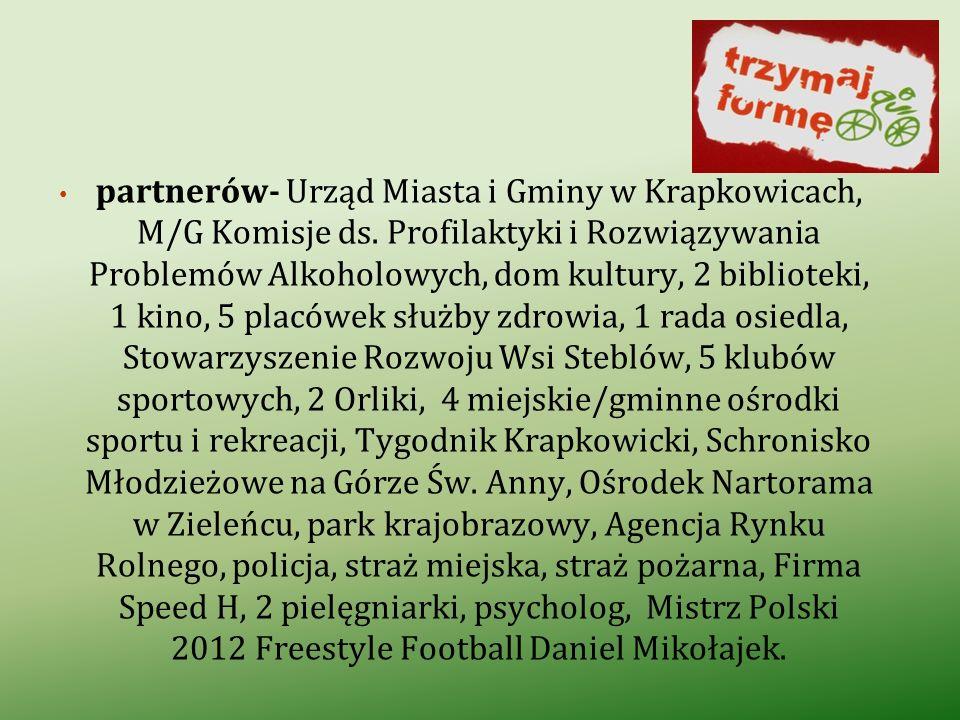 partnerów- Urząd Miasta i Gminy w Krapkowicach, M/G Komisje ds