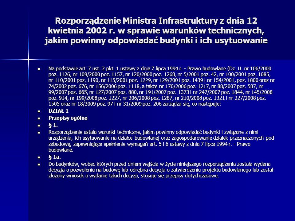Rozporządzenie Ministra Infrastruktury z dnia 12 kwietnia 2002 r