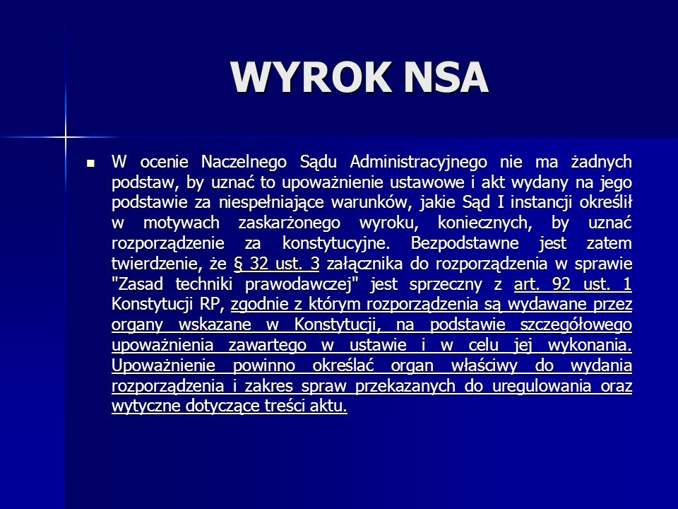 WYROK NSA