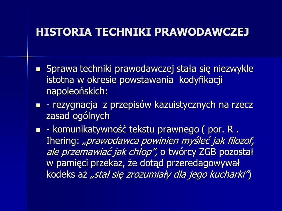 HISTORIA TECHNIKI PRAWODAWCZEJ