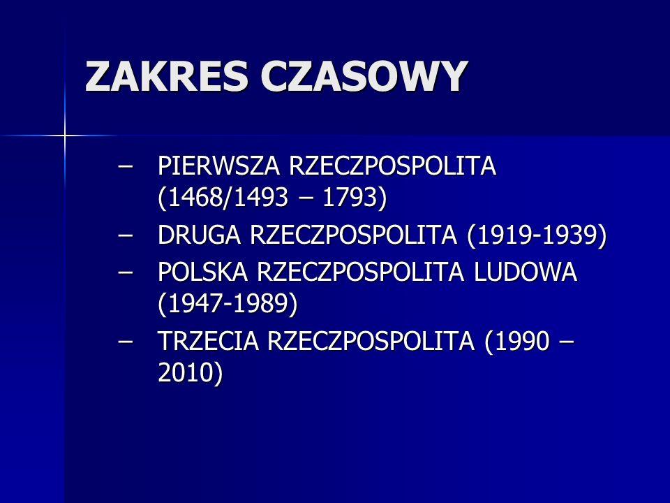 ZAKRES CZASOWY PIERWSZA RZECZPOSPOLITA (1468/1493 – 1793)