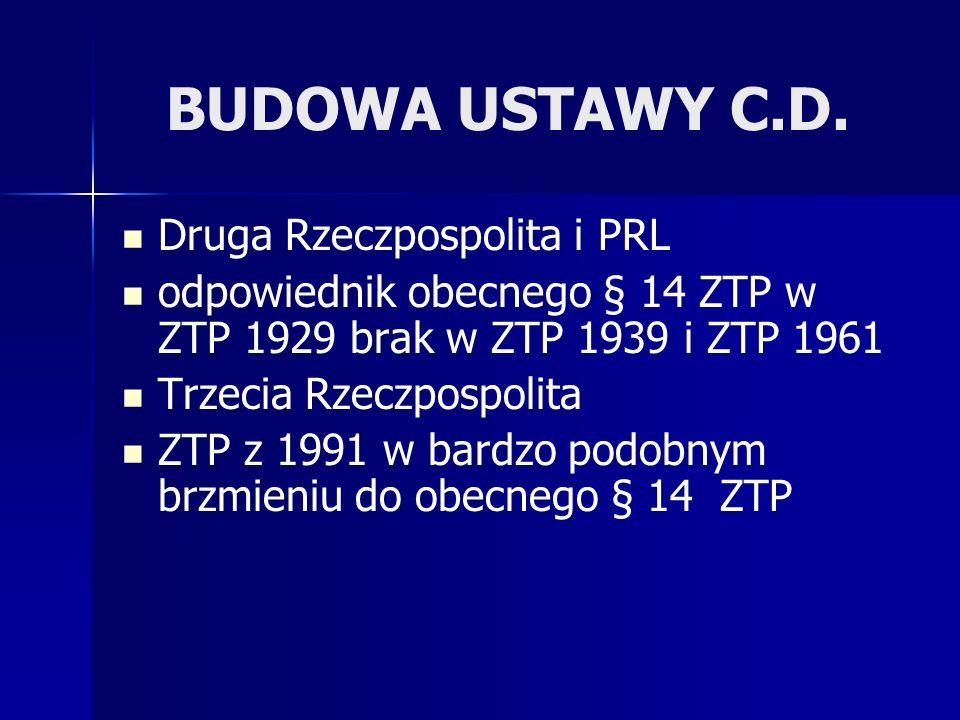 BUDOWA USTAWY C.D. Druga Rzeczpospolita i PRL