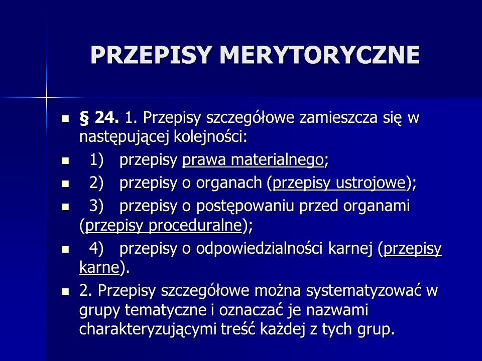 PRZEPISY MERYTORYCZNE