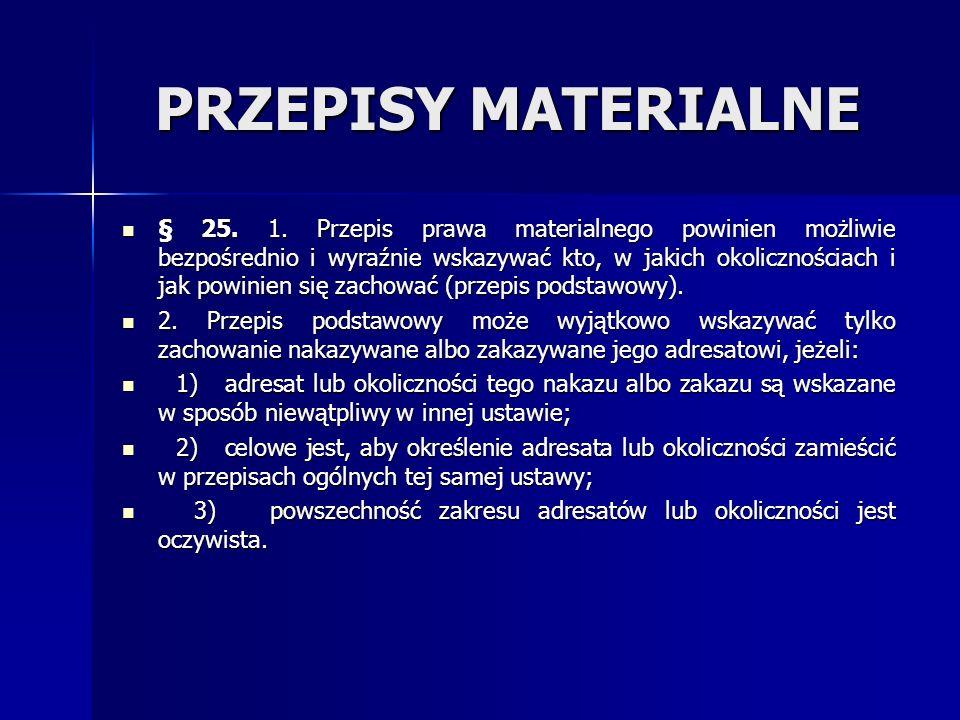 PRZEPISY MATERIALNE