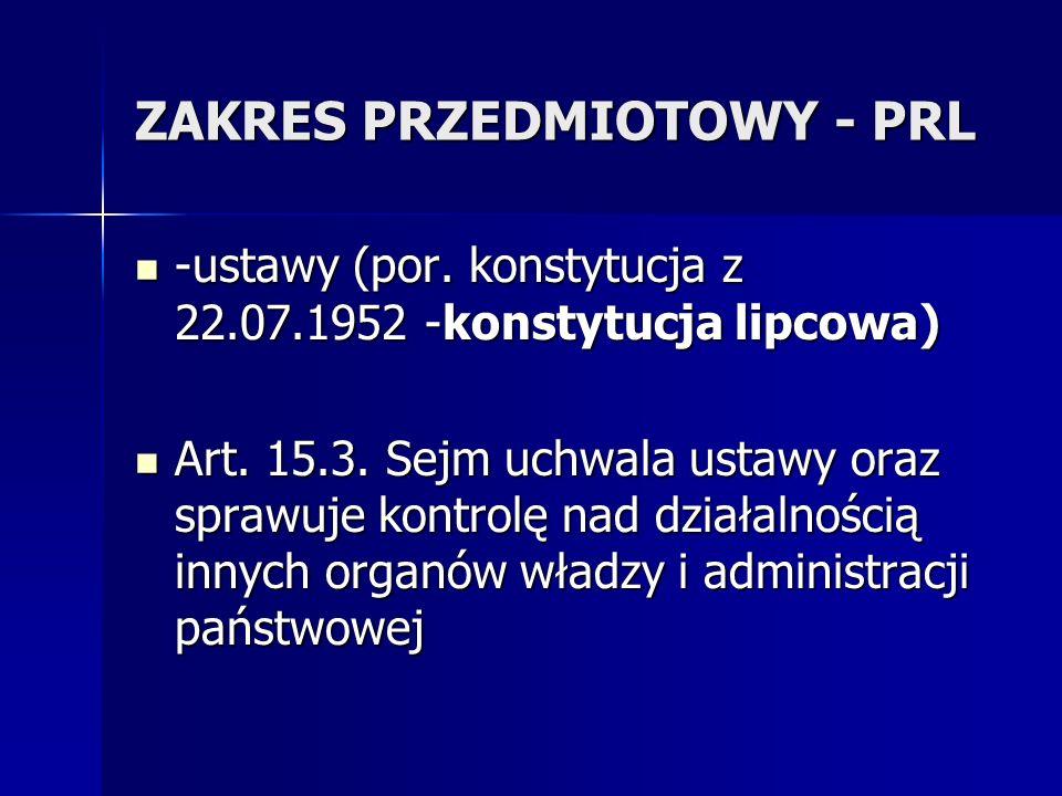 ZAKRES PRZEDMIOTOWY - PRL