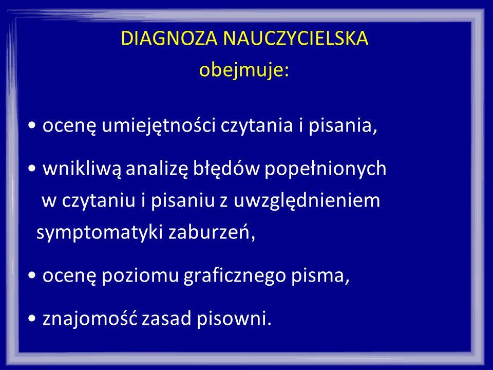 DIAGNOZA NAUCZYCIELSKA