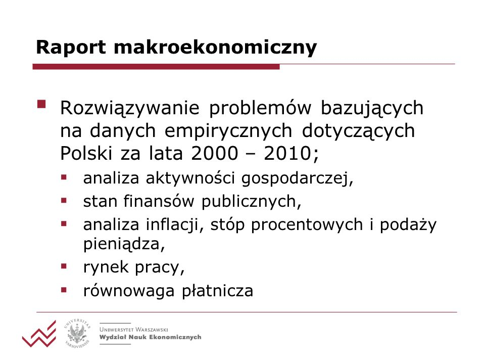 Raport makroekonomiczny