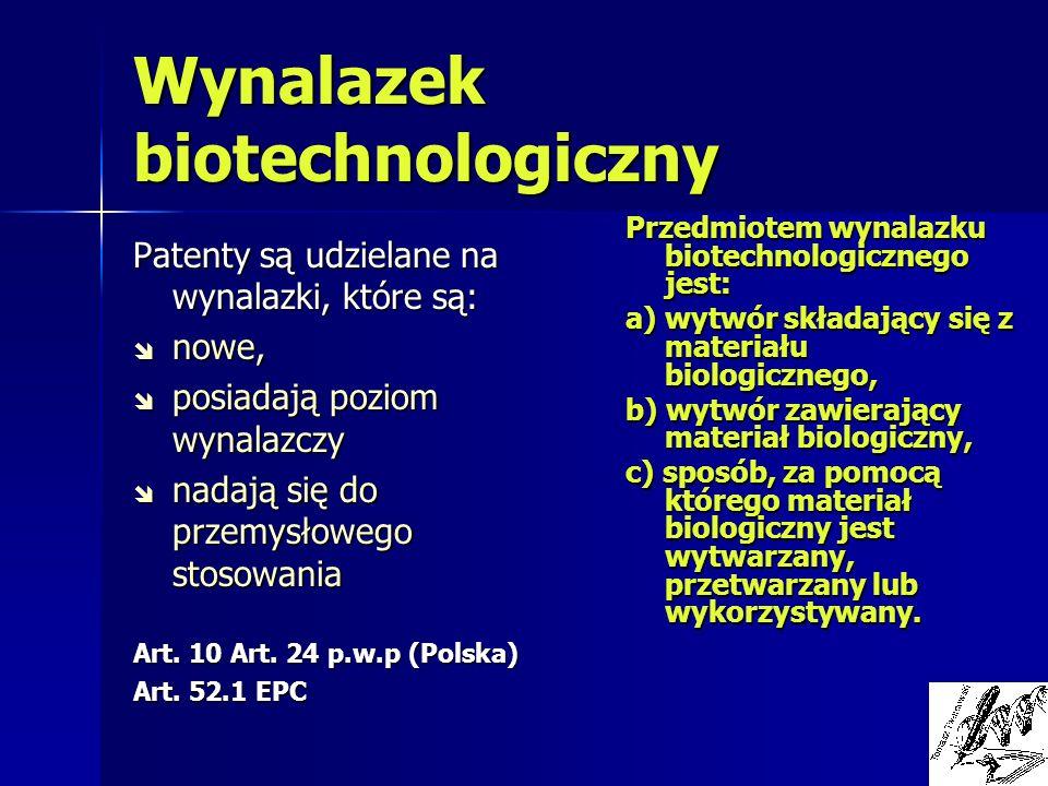 Wynalazek biotechnologiczny