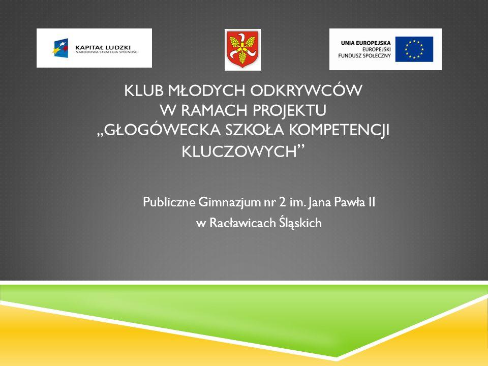 Publiczne Gimnazjum nr 2 im. Jana Pawła II w Racławicach Śląskich