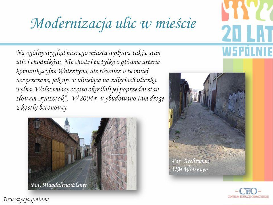 Modernizacja ulic w mieście