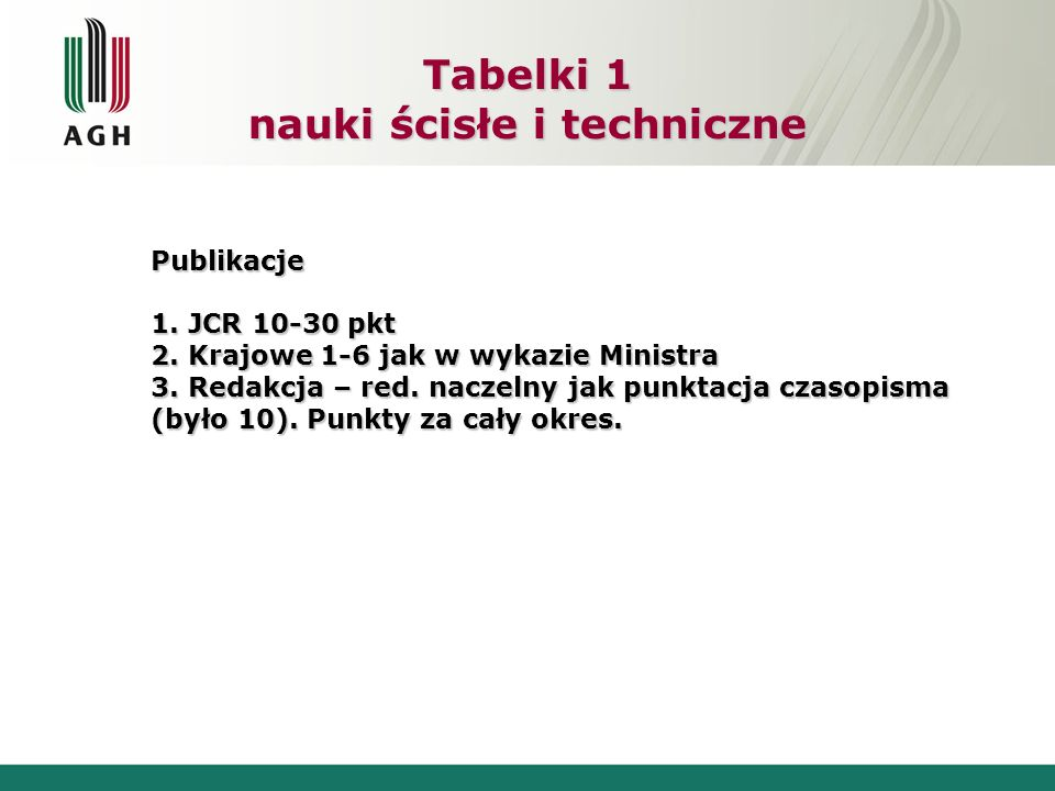 Tabelki 1 nauki ścisłe i techniczne