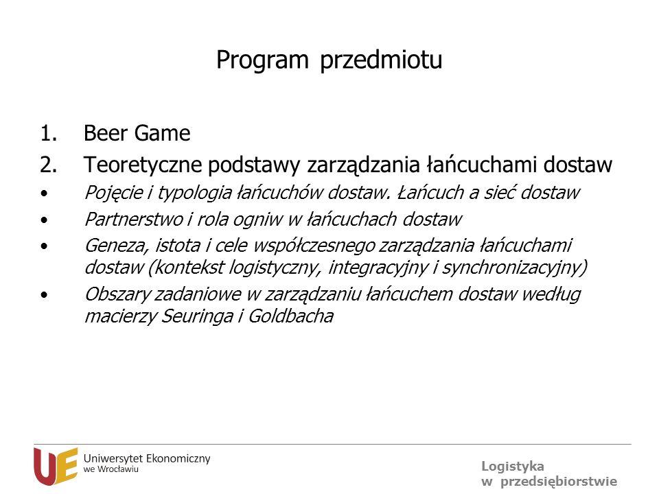 Program przedmiotu Beer Game